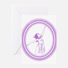 Dance Unto The Lord (purple) Greeting Card