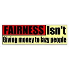Fairness Bumper Bumper Sticker