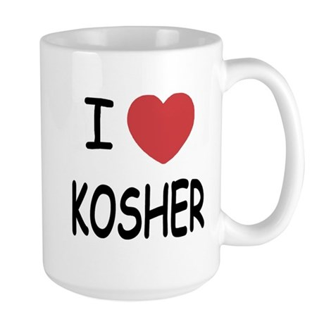 I heart kosher Large Mug