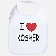 I heart kosher Bib