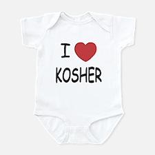 I heart kosher Infant Bodysuit