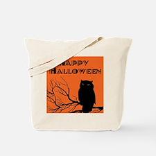 VINTAGE HALLOWEEN OWL Tote Bag