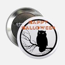"VINTAGE HALLOWEEN OWL 2.25"" Button"