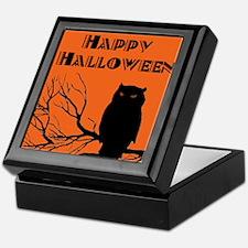 VINTAGE HALLOWEEN OWL Keepsake Box