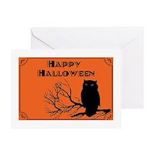 VINTAGE HALLOWEEN OWL Greeting Card