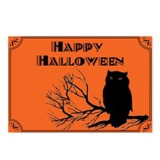 VINTAGE HALLOWEEN OWL Postcards (Package of 8)