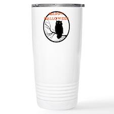 VINTAGE HALLOWEEN OWL Travel Coffee Mug