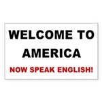 Speak English Rectangle Sticker
