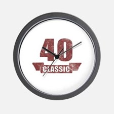 40th Birthday Classic Wall Clock