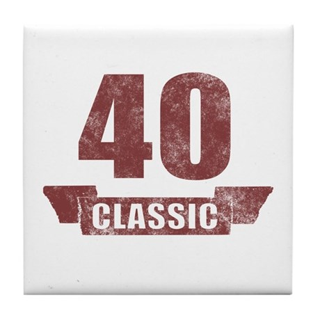 40th Birthday Classic Tile Coaster
