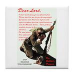 Prayer Against Dhimmitude Tile Coaster