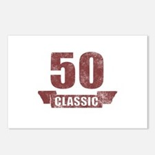 50th Birthday Classic Postcards (Package of 8)