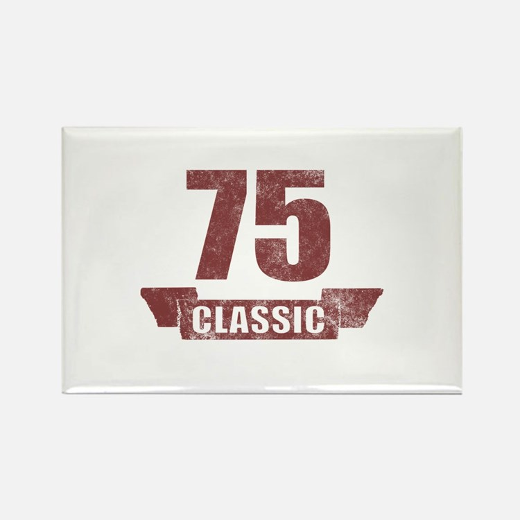 75th Birthday Classic Rectangle Magnet