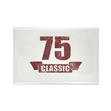 75th Birthday Classic Rectangle Magnet (100 pack)