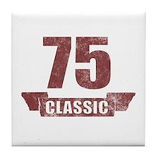 75th Birthday Classic Tile Coaster
