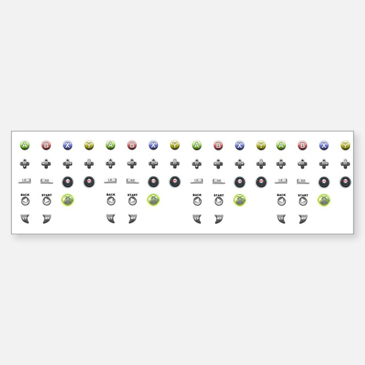 XBOX 360 Controller Button Icons