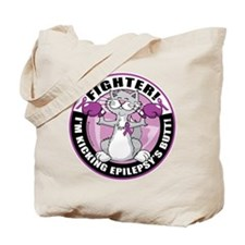 Epilepsy Cat Fighter Tote Bag