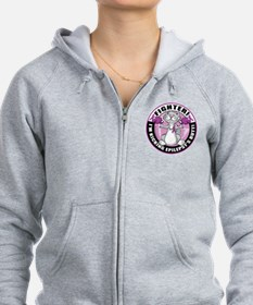 Epilepsy Cat Fighter Zip Hoodie