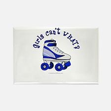 Blue Roller Derby Skate Rectangle Magnet