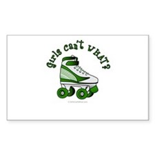 Green Roller Derby Skate Decal