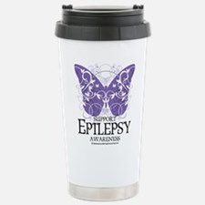 Epilepsy Butterfly Stainless Steel Travel Mug