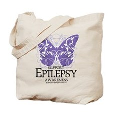 Epilepsy Butterfly Tote Bag