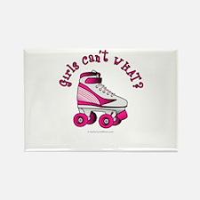 Pink Roller Derby Skate Rectangle Magnet