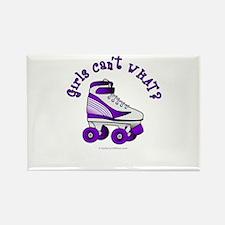 Purple Roller Derby Skate Rectangle Magnet
