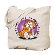 Epilepsy Cat Tote Bag