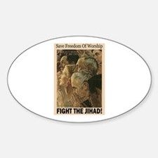 Fight the Jihad Oval Decal
