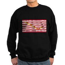 Naval Jack Don't Tread on Me Flag (Front) Sweatshi