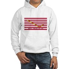 Naval Jack Don't Tread on Me Flag (Front) Hoodie
