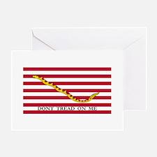 Naval Jack Don't Tread on Me Flag Greeting Card