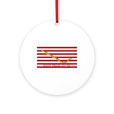 Naval Jack Don't Tread on Me Flag Ornament (Round)