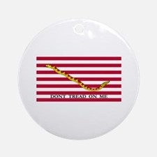 Naval Jack Don't Tread on Me Flag Ornament (Round)