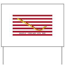 Naval Jack Don't Tread on Me Flag Yard Sign