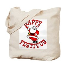 Santa and Festivus Tote Bag