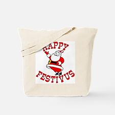 Santa and Festivus Tote Bag