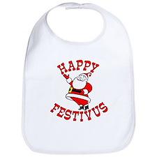Santa and Festivus Bib