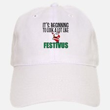 Santa and Festivus Baseball Baseball Cap