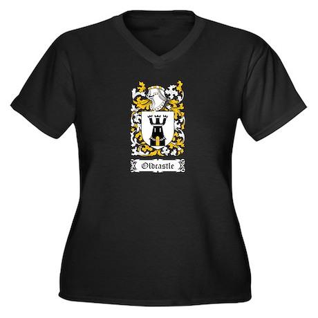 Oldcastle Women's Plus Size V-Neck Dark T-Shirt