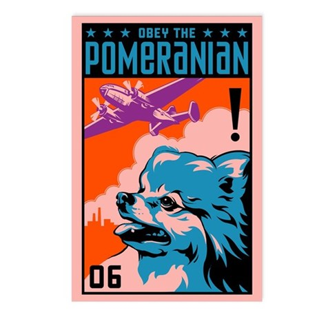 Obey the Pomeranian! Postcards (Pack of 8)