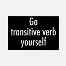 Verb Yourself Rectangle Magnet