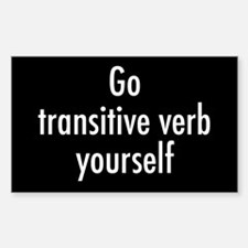Verb Yourself Decal