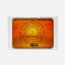 May 12th Fibromyalgia awarene Rectangle Magnet