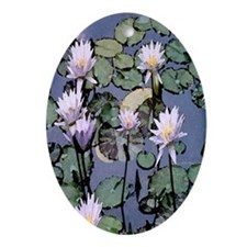 Water Lilies Oval Ornament