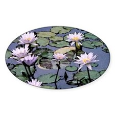 Water Lilies Oval Decal