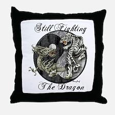 Dragon and TIger Throw Pillow