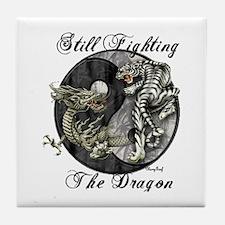 Dragon and TIger Tile Coaster
