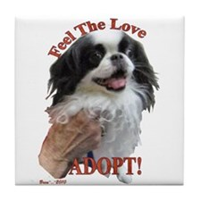 Adopt with Japanese Chin Tile Coaster